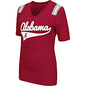 Colosseum Athletics Women's Alabama Crimson Tide Crimson Artistic V-Neck T-Shirt