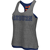 Colosseum Athletics Women's Auburn Tigers Grey/Blue Reversible Tank Top