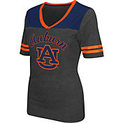 Colosseum Athletics Women's Auburn Tigers Grey Twist V-Neck T-Shirt