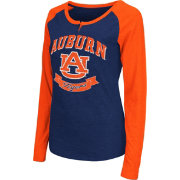 Colosseum Athletics Women's Auburn Tigers Blue Healy Long Sleeve Shirt
