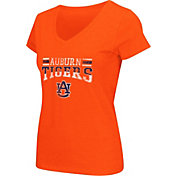 Colosseum Athletics Women's Auburn Tigers Orange Graphic V-Neck T-Shirt