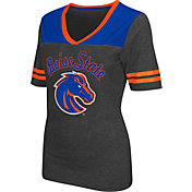 Colosseum Athletics Women's Boise State Broncos Grey Twist V-Neck T-Shirt