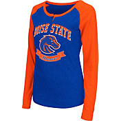 Colosseum Athletics Women's Boise State Broncos Blue Healy Long Sleeve Shirt