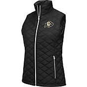Colosseum Athletics Women's Colorado Buffaloes Elite Quilted Black Vest