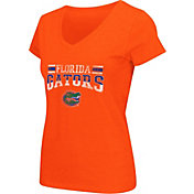 Colosseum Athletics Women's Florida Gators Orange Graphic V-Neck T-Shirt