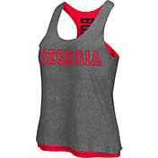 Colosseum Athletics Women's Georgia Bulldogs Grey/Red Reversible Tank Top