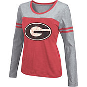 Colosseum Athletics Women's Georgia Bulldogs Red Leap Scoop Neck Long Sleeve Shirt