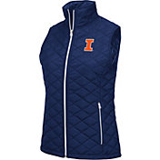 Colosseum Athletics Women's Illinois Fighting Illini Blue Elite Quilted Vest