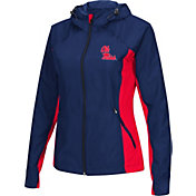 Colosseum Athletics Women's Ole Miss Rebels Blue/Red Step Out Windbreaker