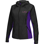 Colosseum Athletics Women's LSU Tigers Black/Purple Step Out Windbreaker