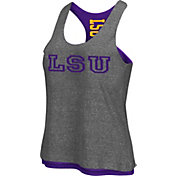 Colosseum Athletics Women's LSU Tigers Grey/Purple Reversible Tank Top
