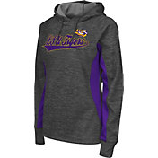 Colosseum Athletics Women's LSU Tigers Grey Performance Hoodie