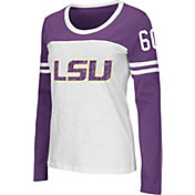 Colosseum Athletics Women's LSU Tigers Team-Colored Hornet Long Sleeve Football T-Shirt