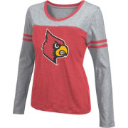 Colosseum Athletics Women's Louisville Cardinals Red Leap Scoop Neck Long Sleeve Shirt
