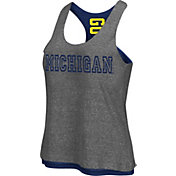 Colosseum Athletics Women's Mighigan Wolverines Grey/Blue Reversible Tank Top