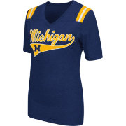 Colosseum Athletics Women's Michigan Wolverines Blue Artistic V-Neck T-Shirt