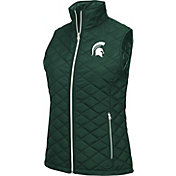Colosseum Athletics Women's Michigan State Spartans Green Elite Quilted Vest