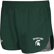 Colosseum Athletics Women's Michigan State Spartans Green Runaway Shorts