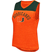 Colosseum Athletics Women's Miami Hurricanes Orange Kiss Cam Tank
