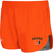 Colosseum Athletics Women's Miami Hurricanes Orange Runaway Shorts