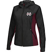 Colosseum Athletics Women's Mississippi State Bulldogs Black/Maroon Step Out Windbreaker