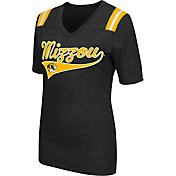 Colosseum Athletics Women's Missouri Tigers Artistic V-Neck Black T-Shirt