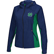 Colosseum Athletics Women's Notre Dame Fighting Irish Navy/Green Step Out Windbreaker