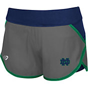 Colosseum Athletics Women's Notre Dame Fighting Irish Grey Straddle Performance Shorts