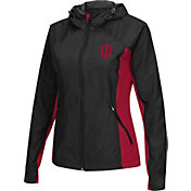 Colosseum Athletics Women's Indiana Hoosiers Black/Crimson Step Out Windbreaker