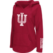 Colosseum Athletics Women's Indiana Hoosiers Crimson Walkover V-Neck Hooded Pullover