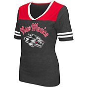 Colosseum Athletics Women's New Mexico Lobos Grey Twist V-Neck T-Shirt