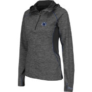 Colosseum Women's Penn State Nittany Lions Grey Downhill Quarter-Zip Hooded Wind Shirt