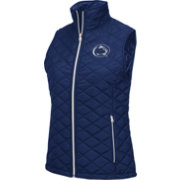 Colosseum Athletics Women's Penn State Nittany Lions Blue Elite Quilted Vest