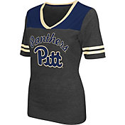 Colosseum Athletics Women's Pittsburgh Panthers Grey Twist V-Neck T-Shirt