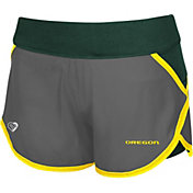 Colosseum Athletics Women's Oregon Ducks Grey Straddle Performance Shorts