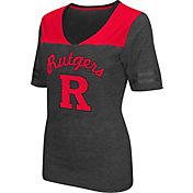 Colosseum Athletics Women's Rutgers Scarlet Knights Grey Twist V-Neck T-Shirt