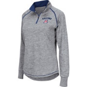 Colosseum Athletics Women's Arizona Wildcats Grey Bikram Quarter-Zip