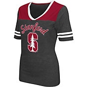 Colosseum Athletics Women's Stanford Cardinal Grey Twist V-Neck T-Shirt
