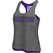 Colosseum Athletics Women's TCU Horned Frogs Grey/Purple Reversible Tank Top