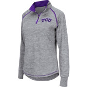Colosseum Athletics Women's TCU Horned Frogs Grey Bikram Quarter-Zip