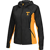 Colosseum Athletics Women's Tennessee Volunteers Black/Tennessee Orange Step Out Windbreaker
