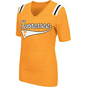 Colosseum Athletics Women's Tennessee Volunteers Tennessee Orange Artistic V-Neck T-Shirt