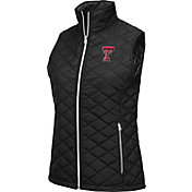 Colosseum Athletics Women's Texas Tech Red Raiders Elite Quilted Black Vest
