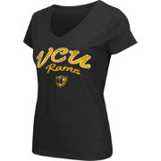 Colosseum Athletics Women's VCU Rams Script Graphic V-Neck Black T-Shirt