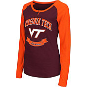 Colosseum Athletics Women's Virginia Tech Hokies Maroon Healy Long Sleeve Shirt