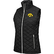 Colosseum Athletics Women's Iowa Hawkeyes Elite Quilted Black Vest