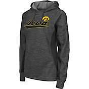 Colosseum Athletics Women's Iowa Hawkeyes Grey Performance Hoodie