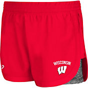Colosseum Athletics Women's Wisconsin Badgers Red Runaway Shorts