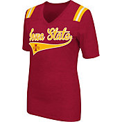 Colosseum Athletics Women's Iowa State Cyclones Cardinal Artistic V-Neck T-Shirt