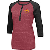 Colosseum Women's Iowa State Cyclones Crimson Three-Quarter Sleeve Henley Shirt